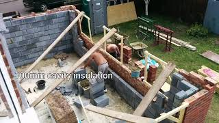 Single Storey Extension 7 X 3.5 Metres Time Lapse Foundation Up