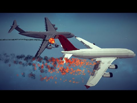 Spectacular Airplane Crashes, Shootdowns, Midair Collisions and More #11   Besiege