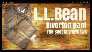 L.L.BEAN Riverton Pants [ The Boot Guy Reviews ]