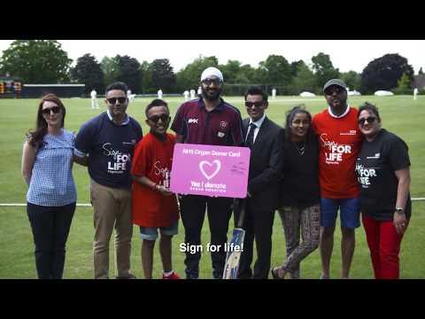Monty Panesar and kidney recipient Akash – YouTube Video