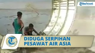 Viral Video Warga di Kumai Temukan Serpihan Pesawat di Tepi Pantai, Diduga Milik Air Asia