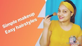 HOW TO GET READY FOR PARTY | RECEPTION | SIMPLE MAKEUP | EASY HAIRSTYLES |