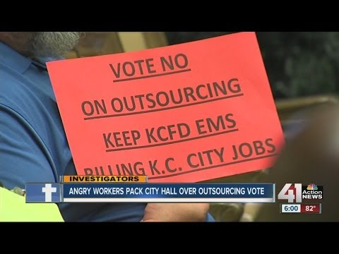 Angry workers pack City Hall over ambulance billing outsourcing vote