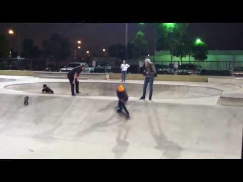 Amanda Castillo skate run at Downey Skatepark