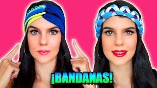#1 CÓMO HACER TURBANTES / BANDANAS!! - BANDANA CRUZADA Y BANDANA TRENZADA MACRAME!! PARTE 1/2- MariG