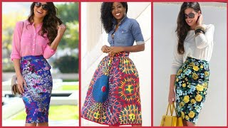 Best Way To Wear Floral Print Skirts In Summer/Highwaist Skirts Pencil Skirts Designs