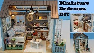 DIY Dollhouse Bedroom, Miniature Bedroom, DIY Miniature Bedroom, Cutter Room Projects,miniature Room