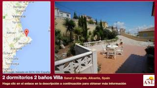 preview picture of video '2 dormitorios 2 baños Villa se Vende en Sanet y Negrals, Alicante, Spain'