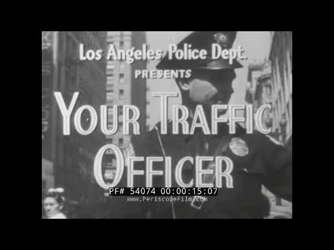 1940s LAPD POLICE MOTORCYLE PATROLMAN RECRUITMENT FILM HARLEY DAVIDSON PANHEAD MOTORCYCLE 54074