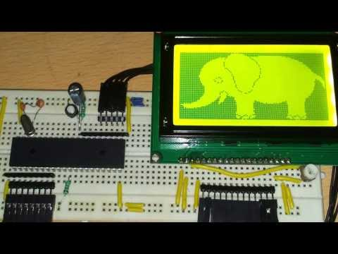 128x64 Pixels Graphic LCD interfacing with 8051