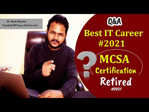 BEST IT CAREER COURSES IN 2021| MCSA Certification Expired ...
