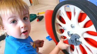 Niki Pretend Play Build Toy Car Bed for Sleeping brother