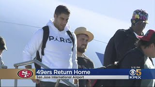 San Francisco 49ers Quietly Return Home After Super Bowl Loss