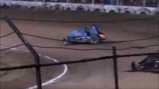 Creek County Speedway Non-Wing Champ Sprint Heat #4 9/20/14