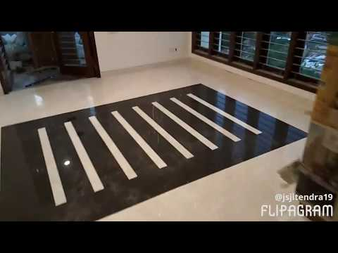 Best Italian marble flooring, polishing and best black Italian design.