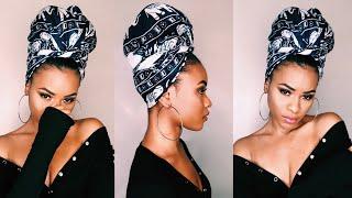 QUICK + EASY Head Wrap/Turban Tutorial For Natural Hair | KeekzCurls