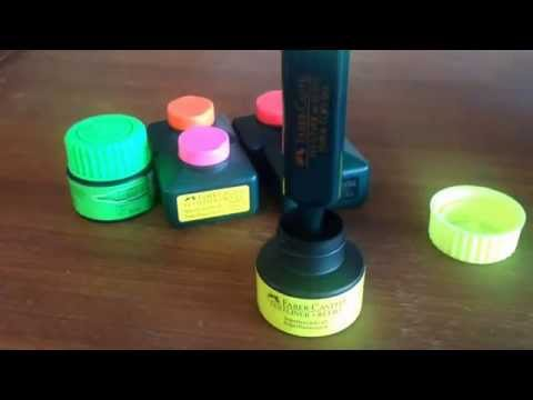 How to refill Faber-Castell Textliner with Textliner 1549 Automatic Refill Tank