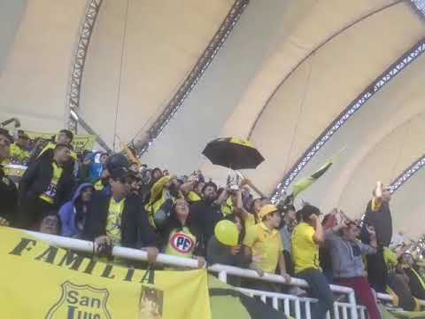 """San luis 1 union calera 2 . Ultra kanaria no abandona."" Barra: Ultra Kanaria • Club: San Luis de Quillota"