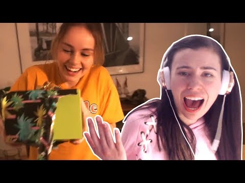REACTING TO THEA OPENING OUR SURPRISE PRESENTS!!!