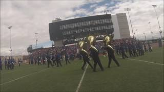 FMHS Marching Band (Tenors Cam) - Colorado West 2016