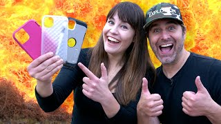 EXPLODING iPhone 11 cases with Tory Belleci