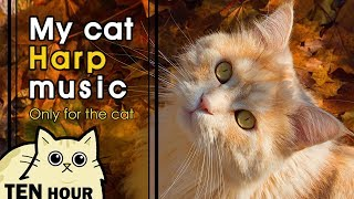 [MY CAT HARP MUSIC] 고양이를 위한 부드러운 하프 소리 베스트 10시간 출근 외출 스트레스 예방 (10 Hour, Best Half Music, lullaby)