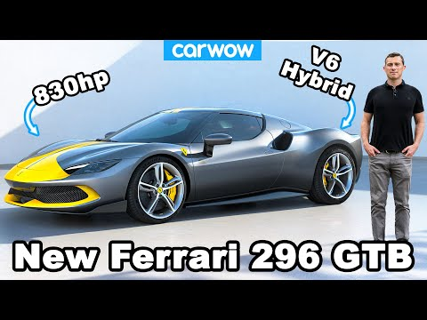 New Ferrari 296 GTB revealed - it's an 830hp hybrid?! 😮