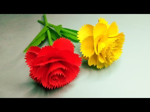 , title : 'Making nice and beautiful Paper Flowers For Home Decor - Paper craft DIY - DIY Flowers