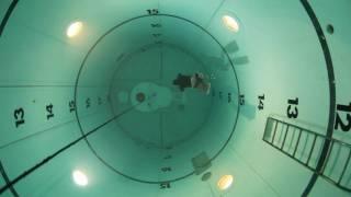 Freediving in Navy tank