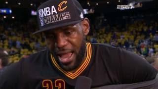 NBA Champs: Cavs Celebration, LBJ Postgame and Trophy Presentation