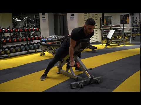 Dumbbell Lying one arm rear lateral raise