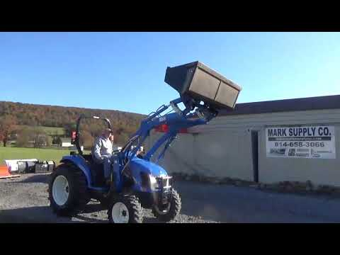 2005 New Holland TC45DA Compact Tractor Loader 4X4 Hydrostatic 3 Point Hitch 540 PTO For Sale