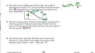 Right Triangle Trig Application: Challenge