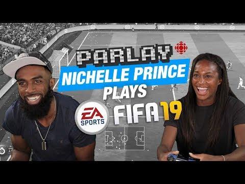 Nichelle Prince plays FIFA 19 and talks Canada vs USA Rivalry   PARLAY   CBC Sports