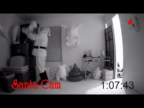 We caught Santa on CAMERA!!