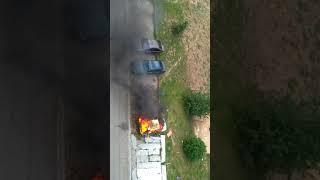 В Чебоксарах сгорел автомобиль
