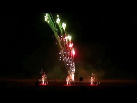 Feuerwerk Pyro-Team Berlin - Shoppingnacht Fürstenwalde 30.03.2019