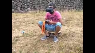 Mi segundo vuelo racer con gafas Fpv drone racer tenerife Tenerife fpv drone
