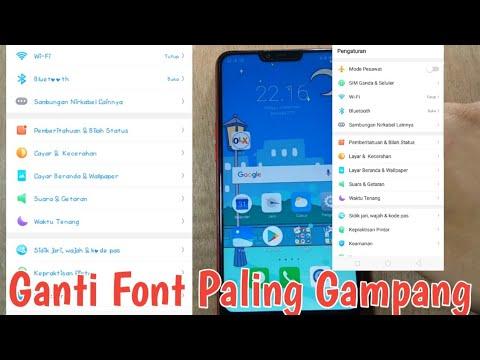 Cara Ganti Font Oppo A3s TANPA ROOT, 100% BERHASIL!!!! - Sandi