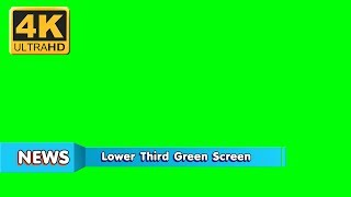 【Lower Third 4K】Video backgrounds Green Screen 4K  - Footage CGI VisualFX | Part 165
