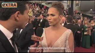 Jennifer Lopez OSCARS Interview on Extra 2012
