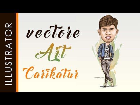 vector caricature tutorial using adobe illustrator by indra maulana