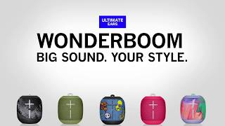 e28120009241a5 Ultimate Ears WONDERBOOM   WATERPROOF. WONDERBOOM Freestyle Collection -  BIG SOUND. YOUR STYLE.