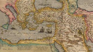 """Turcici Imperii Descriptio, Antwerp 1581 """"Turkish Empire Description"""""""