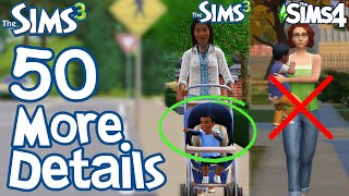 The Sims 3: 50 MORE FUN LITTLE DETAILS not in Sims 2 & Sims 4