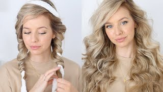 The BEST Heatless Overnight Curls Tutorial 💕 Robe Curls