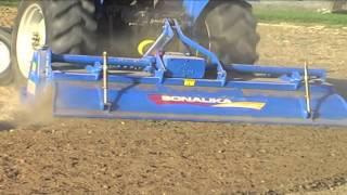 Sonalika 60 Rx Dropping Test with 8 ft Shaktiman Rotavator - hmong video