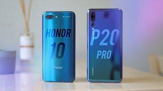 Honor 10 против Huawei P20 Pro. Стоит ли переплачивать? [4k]
