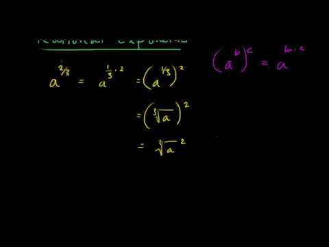 In this video I show how to solve rational (fraction) exponents.