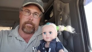 See What Trucker Dad Does While Babysitting Daughter's Doll For The Day